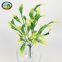 Artificial plastic persian leaf for home decoration wholesale