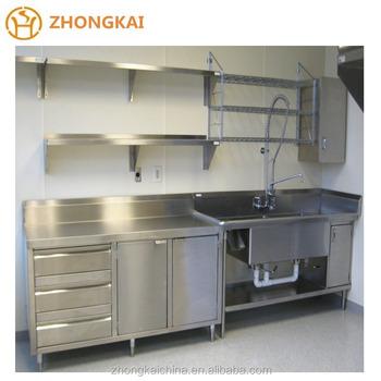 Pieno 201 O 304 In Acciaio Inox Da Cucina Modulare Armadio Da Cucina ...