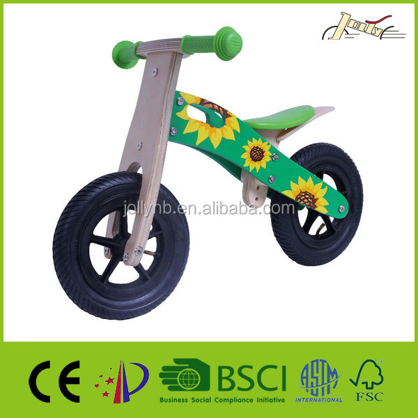 "Wholesale 10"" Sunflower Wooden Balance Bicycle as Kids Bike Toy"