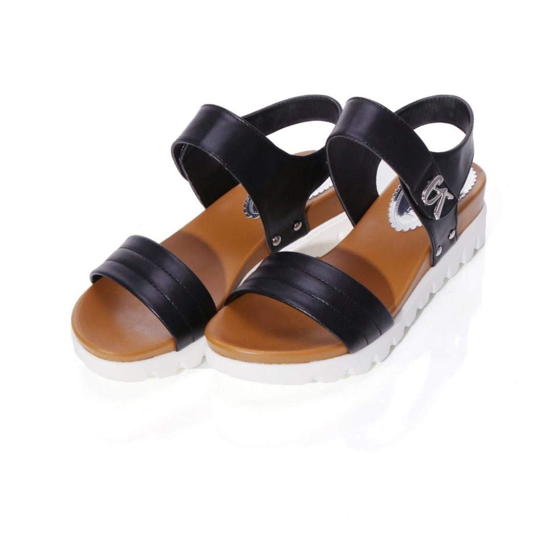 15c1bcbaf5ed0 Get Quotations · Summer Sandals Women Aged Flat Fashion Sandals Comfortable Ladies  Shoes Wedges Sandals Shoes Peep-toe