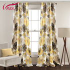 High Quality Flower design Heat Transfer Blackout Printing Curtain