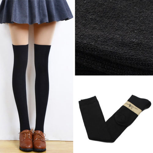1 Pair Of 2016 New Fashion Women s Cotton Sexy Thigh High Over The Knee Socks