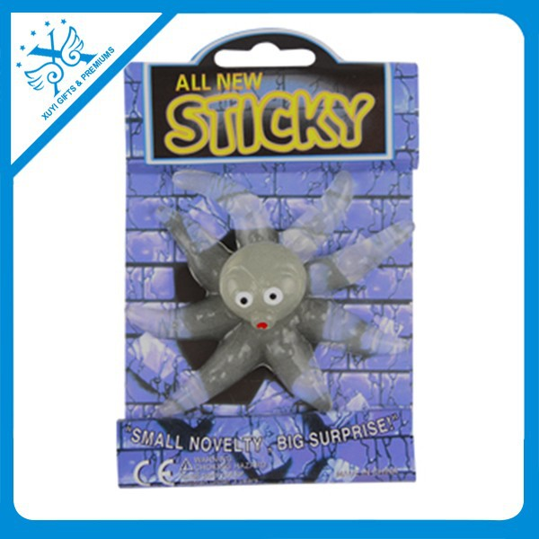 TPR Stretch novelty octopus sticky toys for party promotion custom items