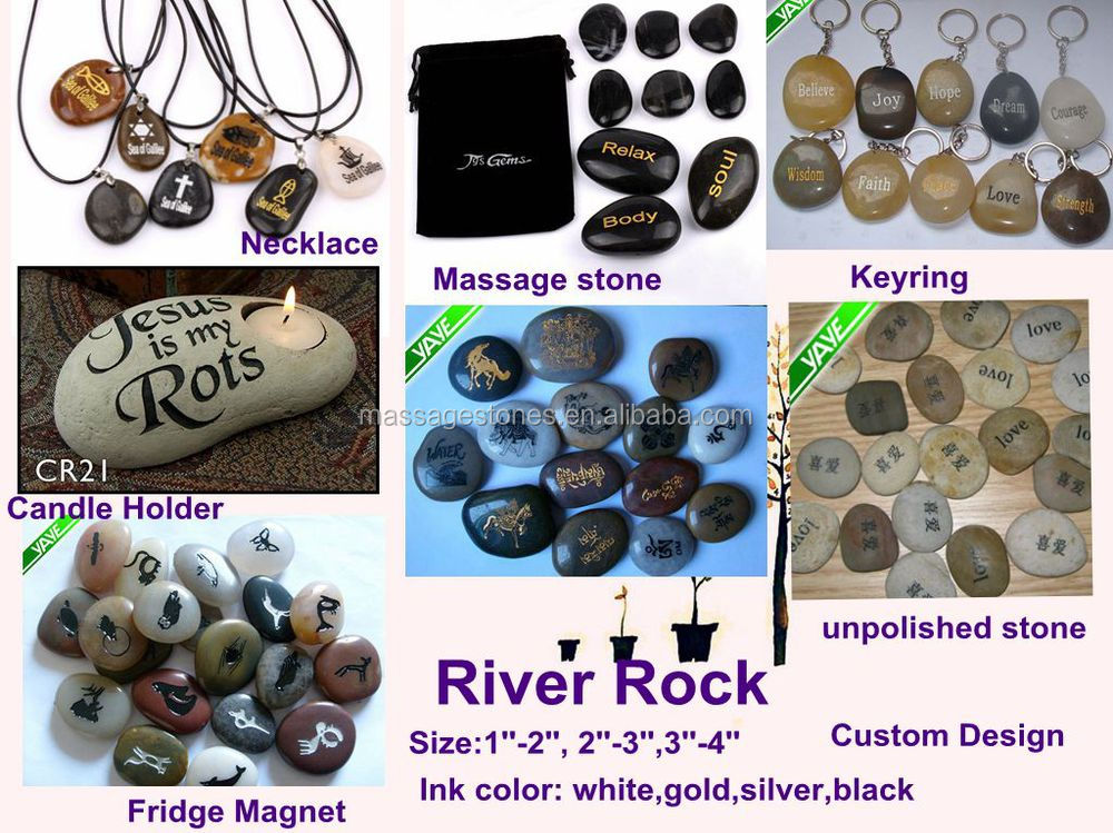 2 3 39 39 engraved river stones craft with inspirational words for Where to buy rocks for crafts