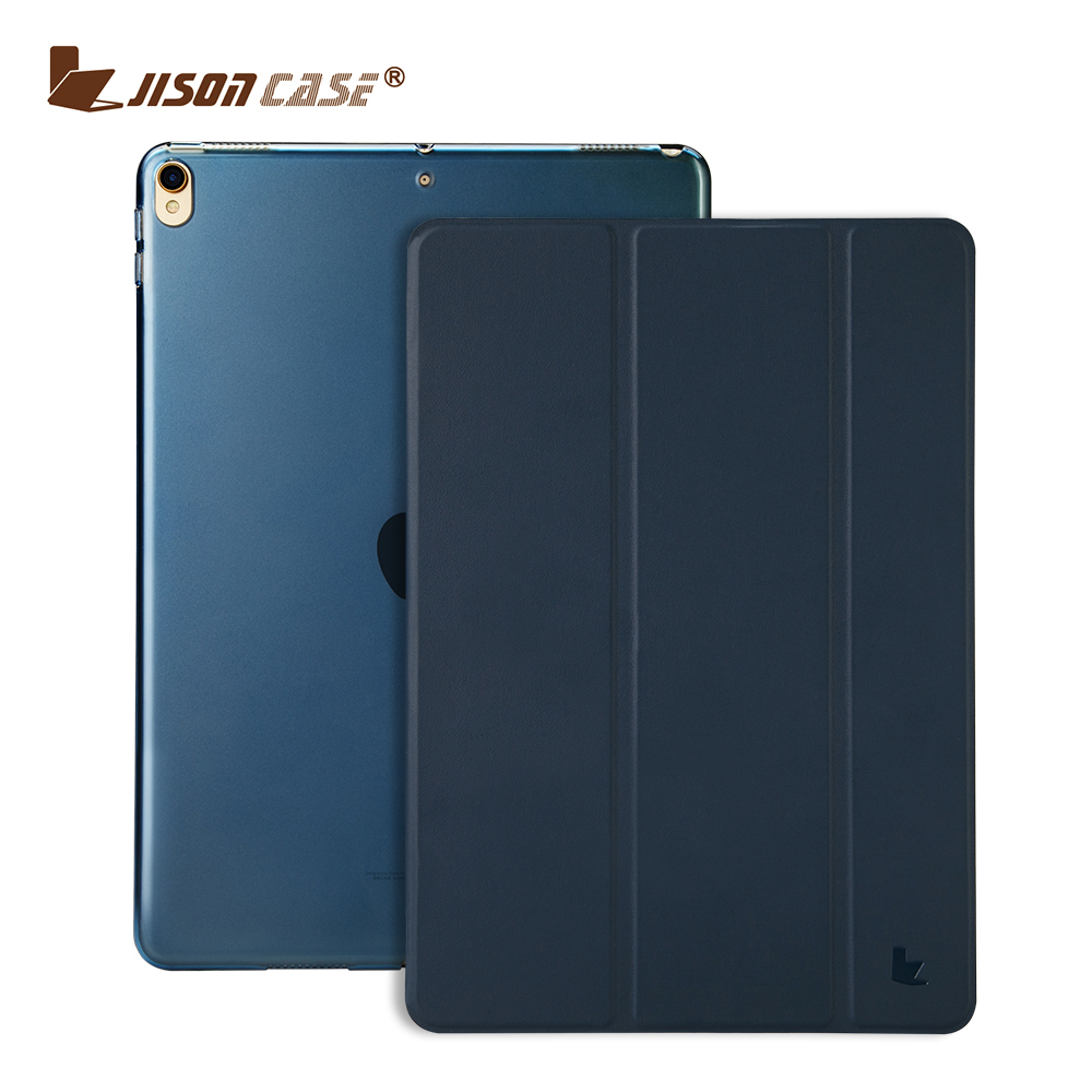 New Generation 2017 ultra thin Tri Folding Leather Flip cover for <strong>ipad</strong> 9.7 10.5 2017 tablet case