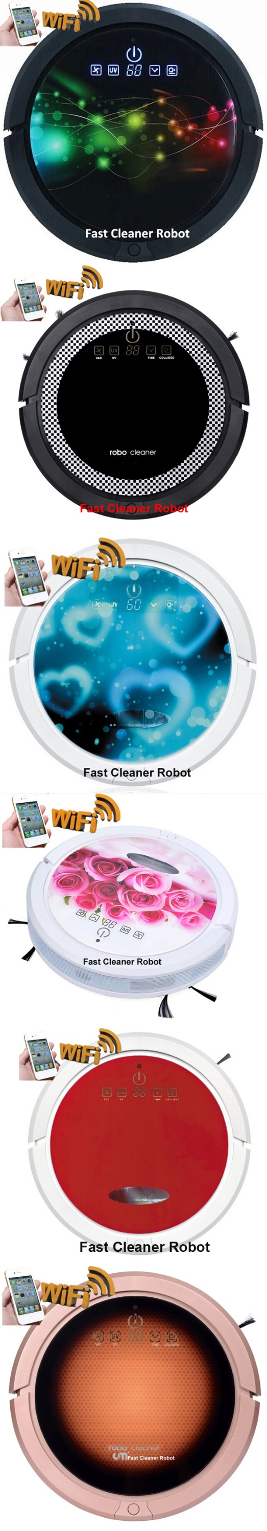 Smartphone app WIFI control cordless vacuum cleaner robot with water tank for wet and dry cleaning