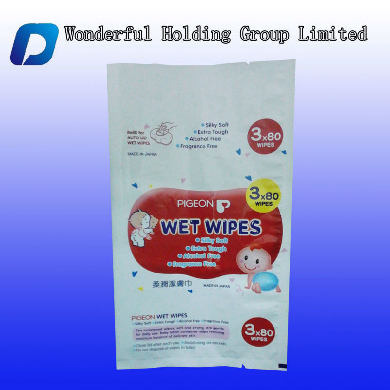 Big size baby product packaging bag/side gusset