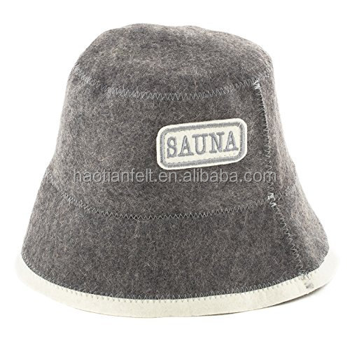Merino wool wool felt sauna hat /cap protect your head from hot steam Russia style directly from factory pure handmade