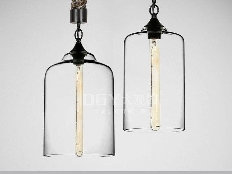 iron rope chain vintage pendant lamp for bar