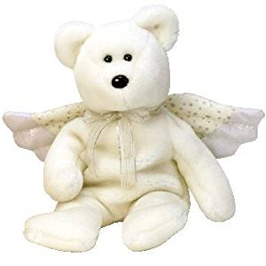 Get Quotations · TY Beanie Baby - HERALD the Angel Bear 1c6cdff329da