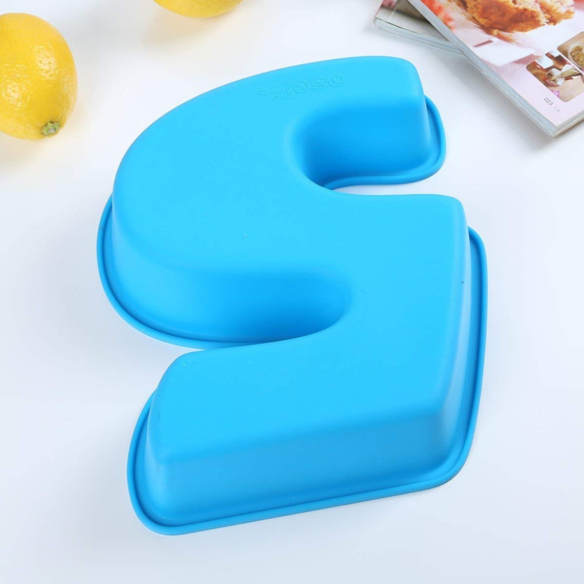100% food grade Large Silicone Number 5 Cake Mould Pan Baking Tin Birthday Anniversary 5th