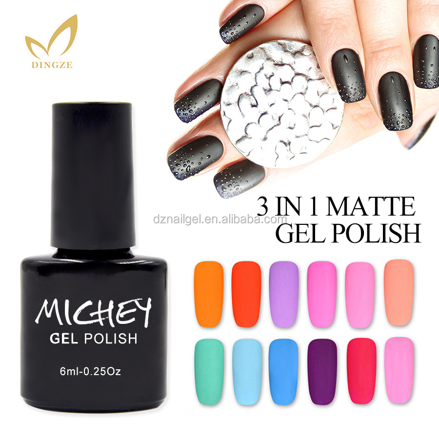 OEM Private Label di Colore Opaco Un Passo Gel UV Del Chiodo Del Gel Soak Off Gel Nail Polish