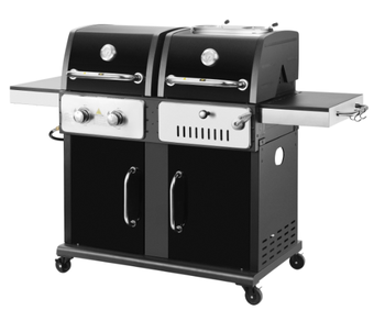 2 In 1 Gas Charcoal Combination Bbq Grill