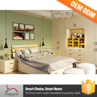 Homesung high quality modern customized size solid wooden bedroom furniture