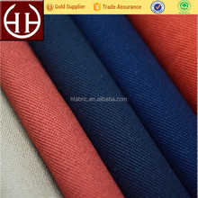 Delicate thick double warp yarns twill 100% cotton trousers fabric