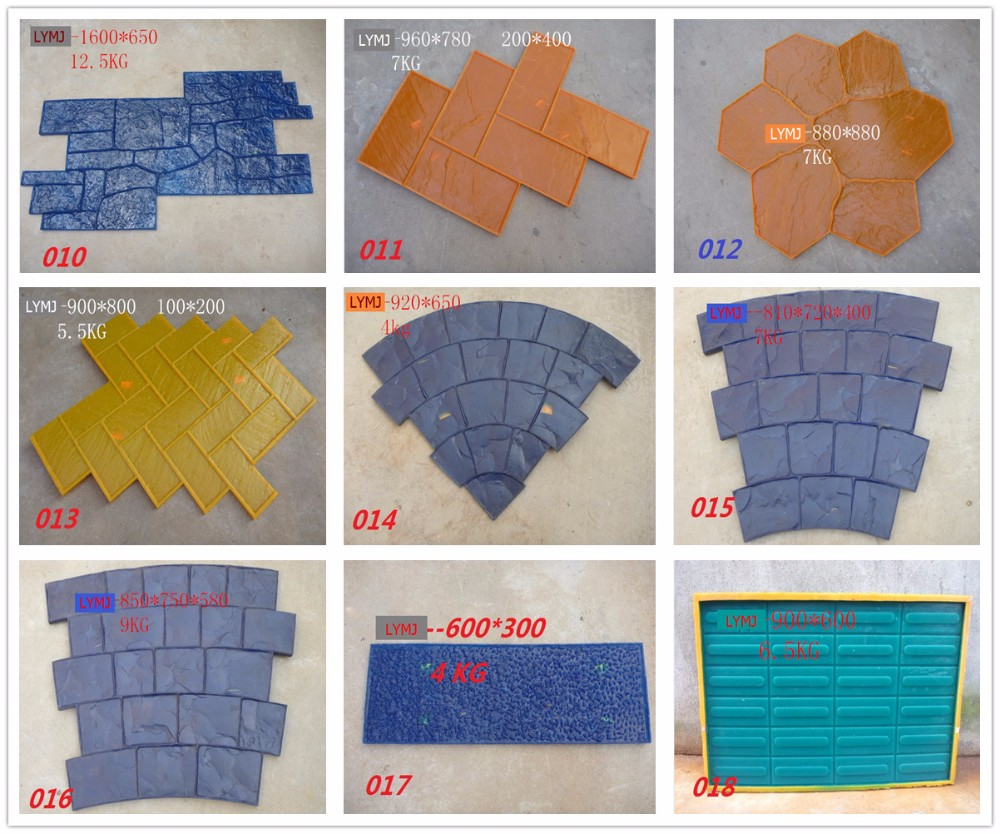 Fast Delivery Decorative Pu Concrete Imprint Mould With Low Price ...