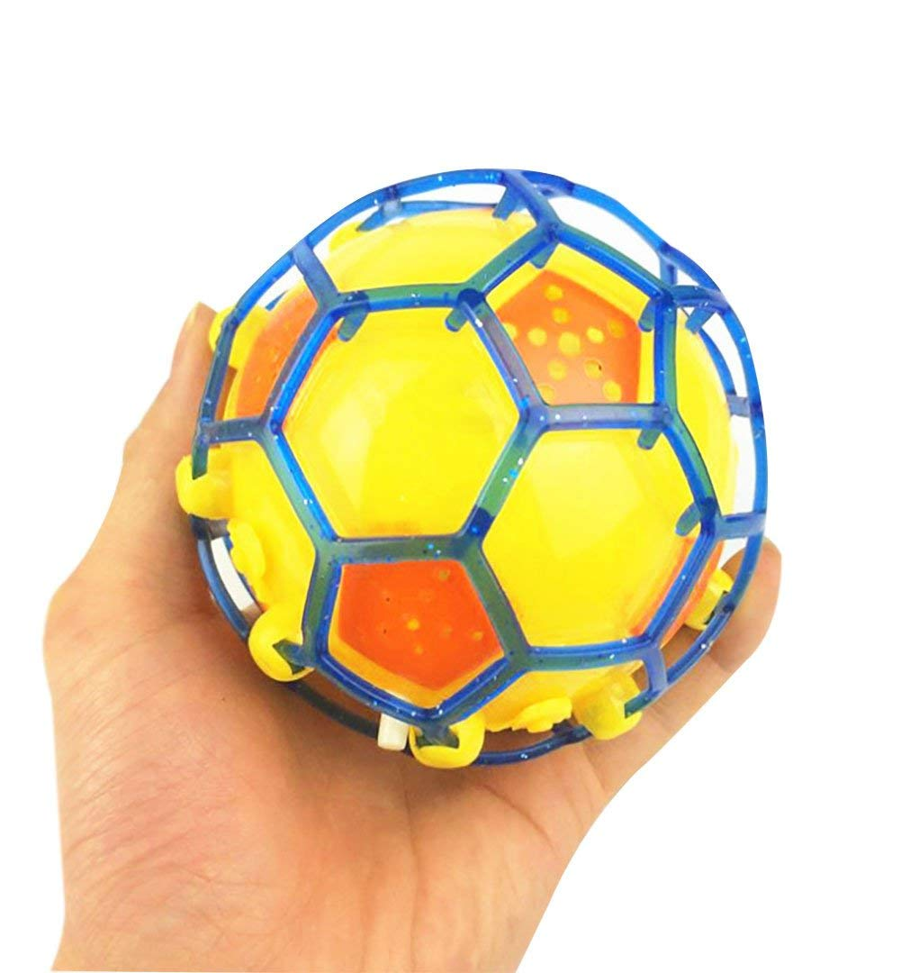 mossty Kids Bouncy Ball Electric Flash Music Football Jumping Ball Dancing Light Up Soccer Ball Toy