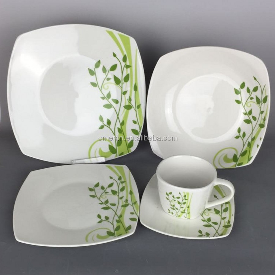Cheap Price 20/30 pcs Fine Porcelain Dinner Set New Design Square Dinnerware Sets : fine dinnerware sets - pezcame.com