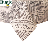 American Style Table Covers Linen Creative Newspaper Letter Printed Dustproof Napkins Tablecloths