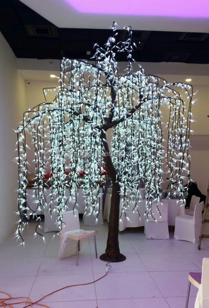 3546 pcs leds dry tree for decoration good quality led willow tree light green white color - Como decorar un arbol seco ...