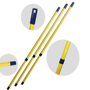 LZ strong broom cleaning adjustable heavy duty telescopic mop pole with hooks