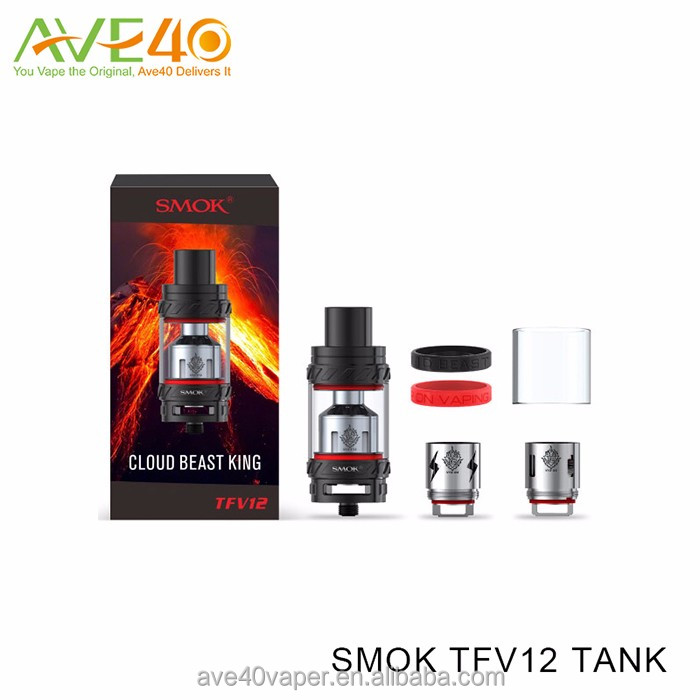 AVE40 Wholesale Smok TFV12 Tank, 6.0ml Atomizer, 27mm Cloud Beast King,Leak proof design
