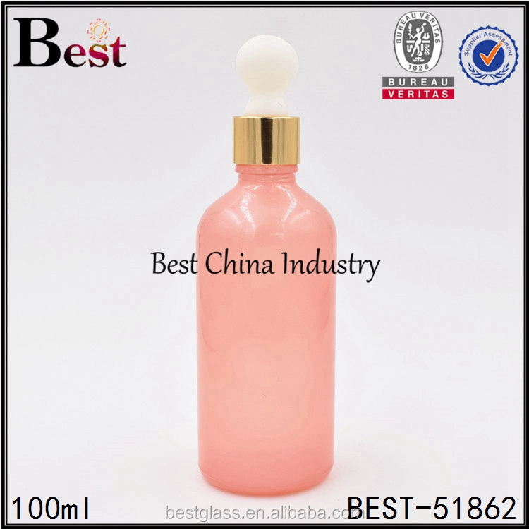 china supplier pink dropper bottle free samples glass essential oil container wholesale