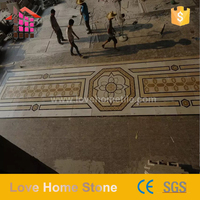 Natural best quality pattern medallion floor tiles for government project