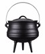 Metal pot cast iron cauldron three legged pot