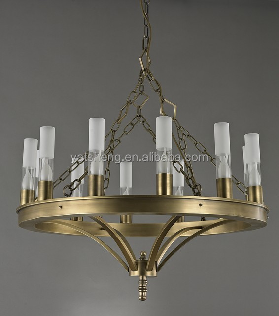 110V CANDLE LIGHT classic style hotel lobby use modern pendant lighting