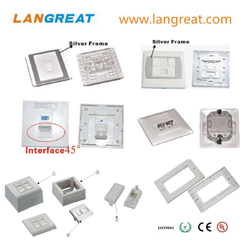 86 SIZE NETWORK FACEPLATE/120 WALLPLATE
