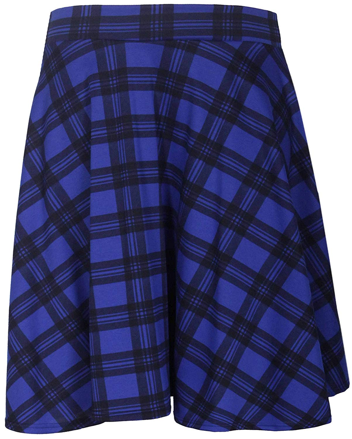 dcbc41b2c9f Get Quotations · Purple Hanger Curvy PurpleHanger Women s Tartan Check  Skater Skirt Plus Size