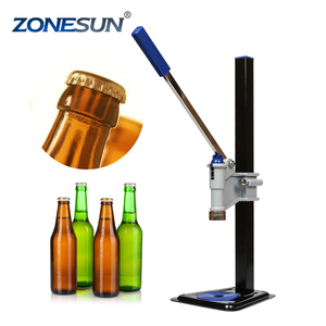 ZONESUN Beer Bottle Capping Machine Manual Beer Lid Sealing Capper Beer Capper Soft Drink Capping Machine Soda Water Capper