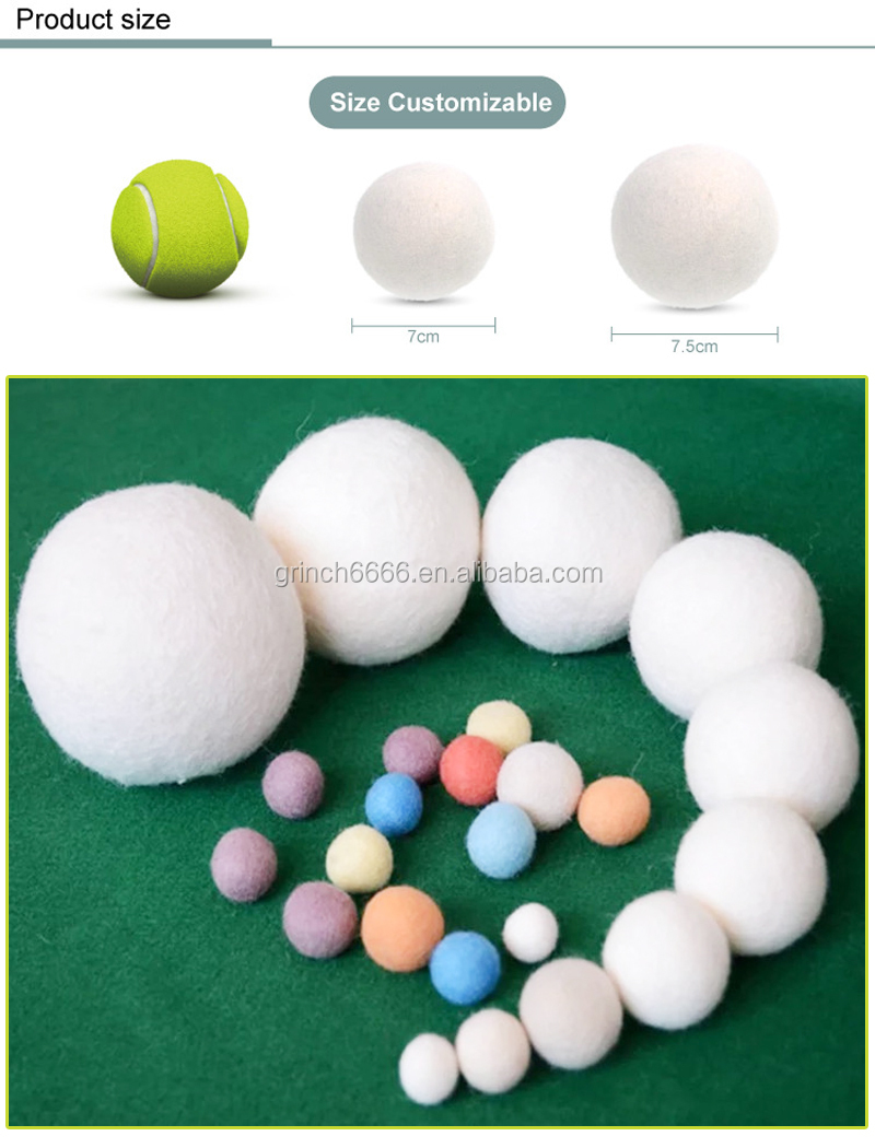 Reusable Wool Dryer Balls Fabric Softener Dryer Sheets
