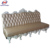 Foshan guangdong solid wood 2 seat sofa wedding furniture
