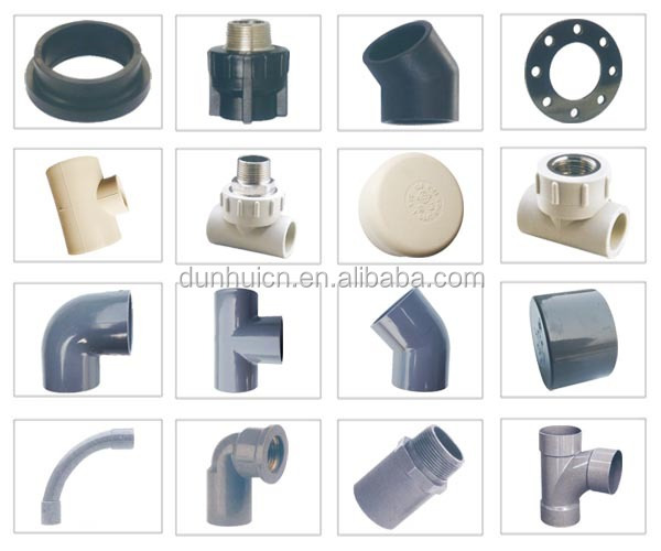 Black Plastic Water Line Pipe Fittings Upvc Pipe And