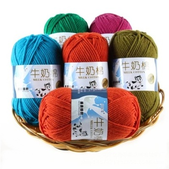 Soft Milk Crochet Cotton Knitting Yarn Baby Yarn Knitting Wool Thick Yarn For Knitting Threads Hand Knit
