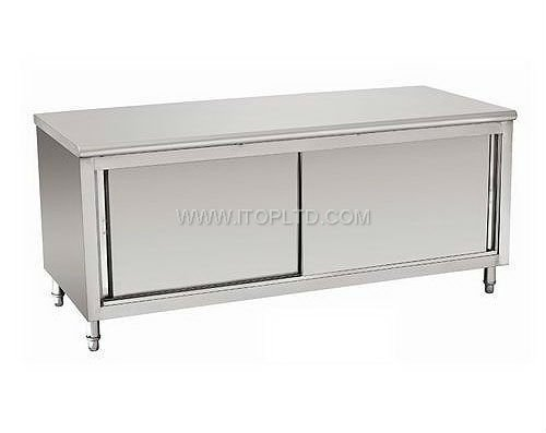 Good Quality Commercial kitchen cabinets Stainless Steel Free Standing Restaurant Kitchen Cabinet