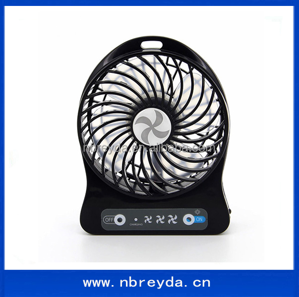 DC 5V USB Rechargeable Small <strong>Fan</strong> Portable Travel <strong>Fan</strong> with Lamp / Light