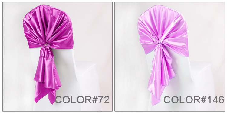 satin chair sash wedding chair sash,cheap satin cloth wrapped chair back