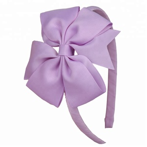 Italian turkish 4 inch polyester hair band accessories with bows