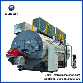 High Efficiency Oil Gas Fired Steam Boiler With Condenser - Buy ...