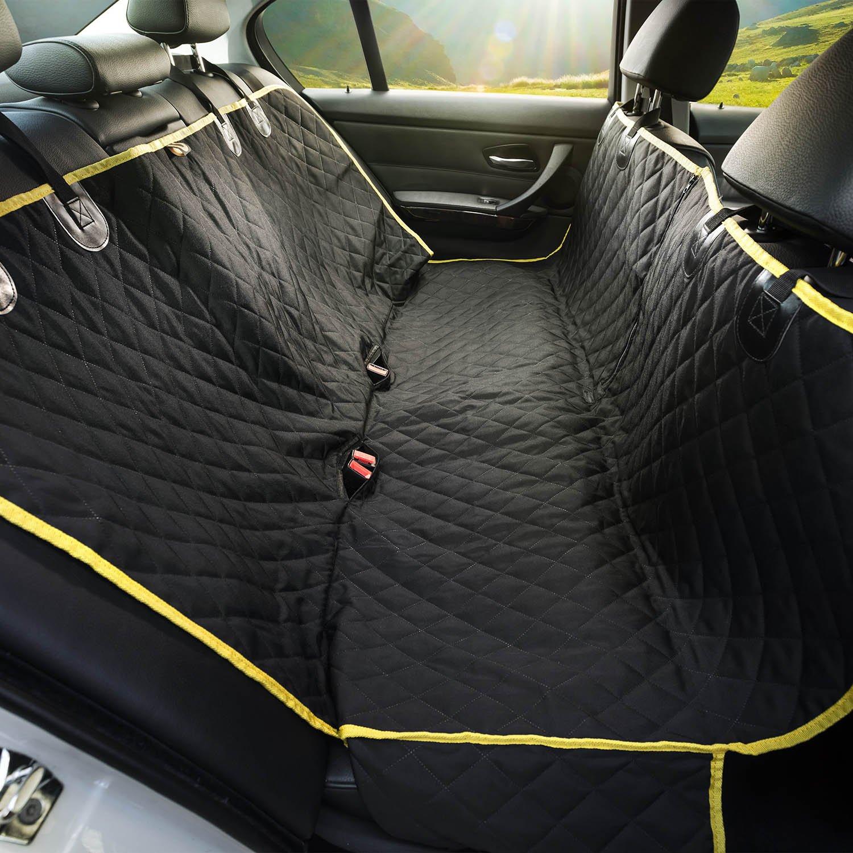 """Dog Seat Covers - Pet Seat Covers - Car Seat Covers For Dogs - Dog Seat Cover - Seat Covers For Dogs - Dog Car Seat Covers - Dog Hammock - Pet Seat Cover - All-New Waterproof Seamless Black 56""""Lx52""""W"""