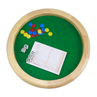 14 inch wooden board games Felt-Lined Wooden Dice Trays with scorecards