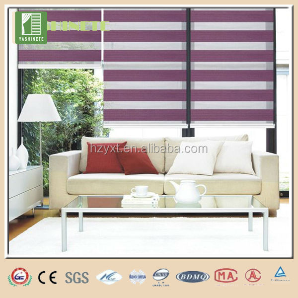 Double layers zebra blinds roller curtain machan