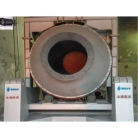 10 TONS Melting Metal aluminium melting rotary furnace for lead smelting