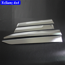 Fortuner 2016-2017 Chrome Side Doors Cladding Molding Trim Guard Body Moulding