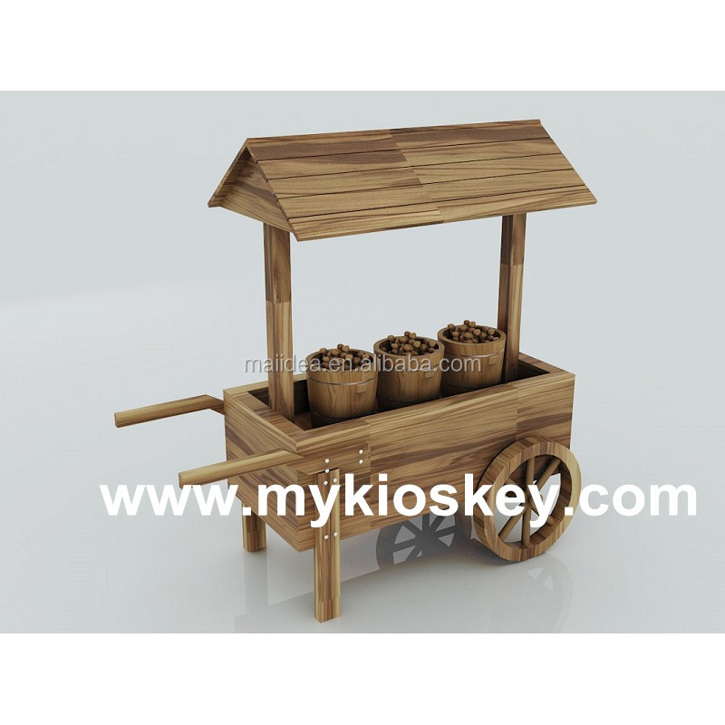 Wooden Archaic Mobile Food Cart Nut Sweet Candy Cart View Sweet Candy Cart Myidea Product Details From Shenzhen Myidea Industrial Limited On