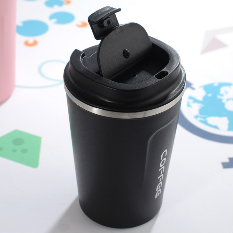 350ml 500ml cooling vacuüm geïsoleerde thermo metalen double wall herbruikbare 304 rvs koffie thee cup mok en fles met deksel