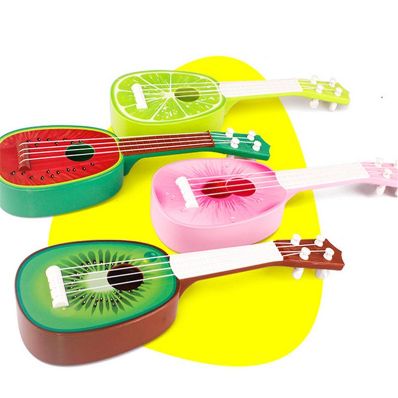 Cheap Educational Cartoon Musical Model Toys kids mini fruit guitar musical instruments toy